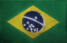 Brazil Embroidered Iron / Sew On Flag Patch