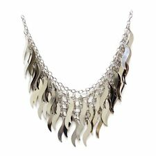 Fiona 5-in-1 Necklace Delicate Metal Wacy Leaves Bottom Strand By Craftsmen-NIP