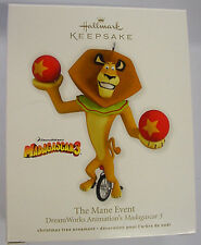 2012 HALLMARK ORNAMENT THE MANE EVENT DREAMWORKS MADAGASCAR 3