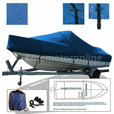 Boston Whaler 170 Montauk Trailerable Boat Cover Blue