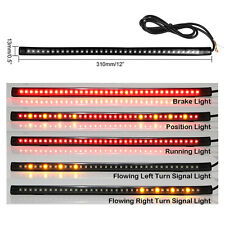 "New 12"" Flexible 36-LED Car Motorcycle Strip Light Tail Brake Stop Flowing Light"