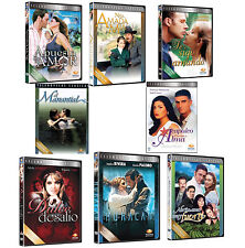 8 Different NEW DVD Boxsets * Spanish TELENOVELAS *New Sealed Novelas * USA Made