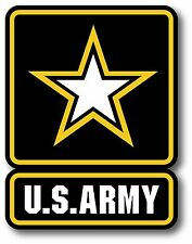 "US ARMY Military Car Decal Bumper Sticker High Quality Diamond Gloss 5"" x 3.75"""