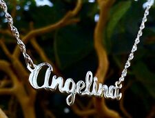 ANY Name Necklace Sterling Silver M-G Script Style