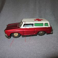 139C Vintage MF-732 Tin Toys Emergency Red Cross