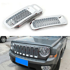 For Jeep Patriot 2011-2014 Chrome Front Grill Mesh Grille Insert Cover Trim Kit