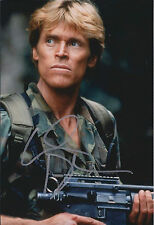 Willem William DAFOE SIGNED Autograph Photo AFTAL American Actor Platoon RARE