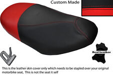 BLACK & RED CUSTOM FITS DERBI BOULEVARD FOUR 04-05 50 DUAL LEATHER SEAT COVER