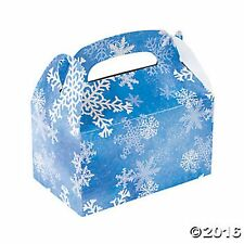 SNOWFLAKES WINTER WONDERLAND FROZEN TREAT GIFT PARTY FAVOR BOXES Lot of 12