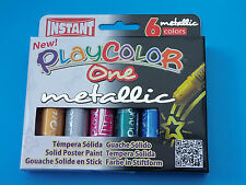 Playcolor One Metallic Solid Paint Sticks - Assorted - Pack of 6
