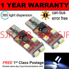2X W5W T10 501 CANBUS ERROR FREE WHITE 6 SMD LED SIDELIGHT BULBS BRIGHT SL104602