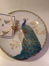 222Fifth Peacock Garden 4 New Appetizer / Dessert Plates
