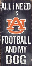 "AUBURN TIGERS ALL I NEED IS FOOTBALL AND MY DOG 6""X12"" WOOD SIGN NEW"
