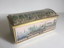 VINTAGE E. OTTO SCHMIDT 1ST RAILROAD BISCUIT COOKIE TIN TRUNK MADE IN W. GERMANY