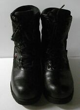 Women's Crosstech Black Leather Fabric Gore Boots Insulated Boots 8 1/2M RB4044