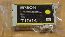 GENUINE EPSON T1004 Yellow cartridge new & vacuum sealed ORIGINAL OEM RHINO INK