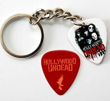 Hollywood Undead Two Sided Guitar Pick Keyring plus Pick