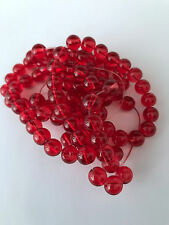 90 pcs Glass Beads 8mm Bead Jewelry Making Red Findings 81E Tools Supply craft
