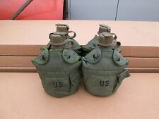 US MILITARY 1 QT OD CANTEENS & LC-2 OLIVE DRAB COVERS [Qty/4] ~GENTLY~USED~
