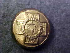 RARE 5/8 BRASS SPANISH AMERICAN WAR VETERAN UNIFORM BUTTON MARKED MARK COWEN NY
