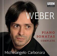 MICHELANGELO CARBONARA - COMPLETE PIANO SONATAS  CD NEU WEBER,CARL MARIA VON