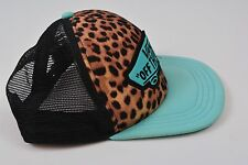 VANS Off The Wall Classic Patch Lepoard Print Mesh Foam Trucker Baseball Hat Cap