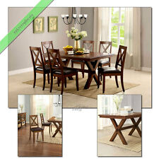 7 Piece Dining Set Maddox Table Chairs Wood Room Furniture Tables Sets for 6
