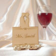 Personalised Wedding Name Place Cards Couple Anniversary Table Decor
