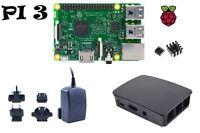 Raspberry Pi 3 Model B UK Version Set mit Gehäuse und 2,5A Netzteil Kühlkörper