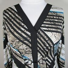 ALFANI WOMAN SNAKE PRINT WITH STRIPES JERSEY KNIT DRESS  SIZE 2X - NWT
