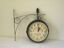 KENSINGTON STATION LONDON DOUBLE SIDE LARGE STATION STYLE WALL CLOCK BRAND NEW