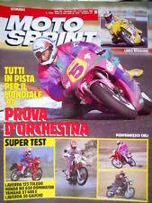 Motosprint 10 1990 In pista per il mondiale: Reggiani e Chili. Test Laverda Q78]