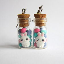 Easter Gifts Chocolate Eggs Bunny Bow Candy Cookie Jar Blue Earrings Jewelry