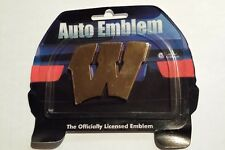 WISCONSIN BADGERS AUTO EMBLEM GOLD TONE DECAL MELVIN GORDON
