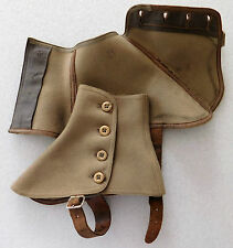 Grey spats wool felt gaiters shoe protector vintage 1920s 1930s outdoor clothes