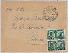 ITALIA REGNO: storia postale - Sass 454 coppia su BUSTA 1941