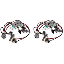 2set 5-way Electric Guitar Wiring Harness Toggle Switchs Pots Jack For ST Pickup
