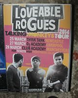 LOVEABLE ROGUES POSTER - TALKING MONKEYS TOUR - 2014