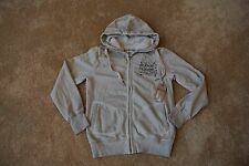 TRUE RELIGION Shaded Silver Grey Hoodie Sweatshirt L NWT$234 Stud Blinged Stars