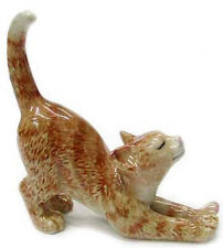 ➸ NORTHERN ROSE Miniature Figurine Ginger Orange Tabby Cat
