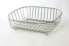 Delfinware Stainless Steel Oval Sink Basket Drainer 3950 'Made In Britain'