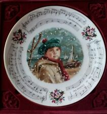 "Royal Doulton Bone China Plate-Christmas Carols 1986 ""I Saw Three Ships"" 8-1/4""W"