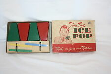 4 VINTAGE ICE POP MOLDS IN ORIGINAL BOX UNION PRODUCTS LEOMINISTER MA