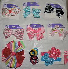 21 PC LOT(B) GIRLS TODDLER BABY HAIR BOWS RIBBONS HEADBANDS CLIPS HOLDERS * NEW