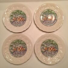 Gien Snack/Salad Plates, Set/4, Les Saveurs Marie-Pierre Boitard, France, Cheese