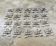 "20 Pewter ""HOCKEY MOM"" Charms  - 5467"