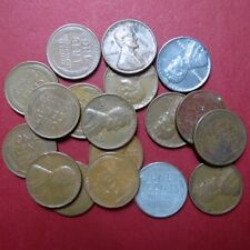 *CIRCULATED, Mixed LOT of 18 Vintage  LINCOLN WHEATCENTS, Coin Lot #5