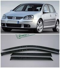 For VW Golf 5 V 5d 2003-2008 Side Window Visors Sun Rain Guard Vent Deflectors