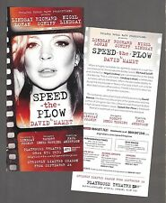 """Lindsay Lohan (Stage Debut) """"SPEED-THE-PLOW"""" Richard Schiff 2014 London Flyer"""