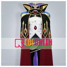 Cosonsen Code Geass R2 Suzaku Kururugi Knight of Zero Cosplay Costume All Size
